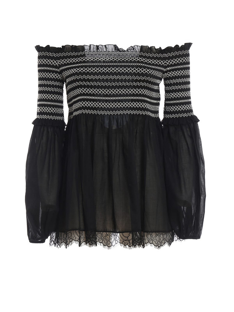 Blumarine Embroidered Blouse in nero