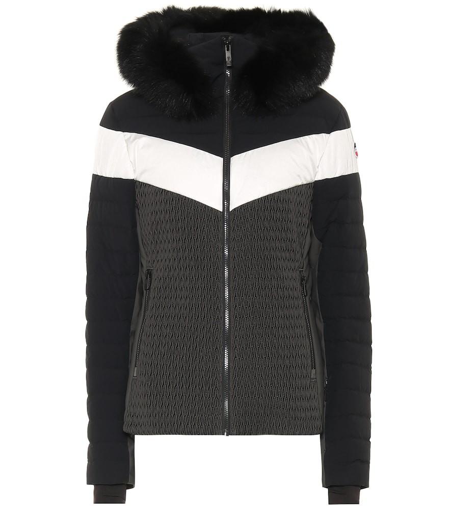 Fusalp Amaly faux fur-trimmed ski jacket in black
