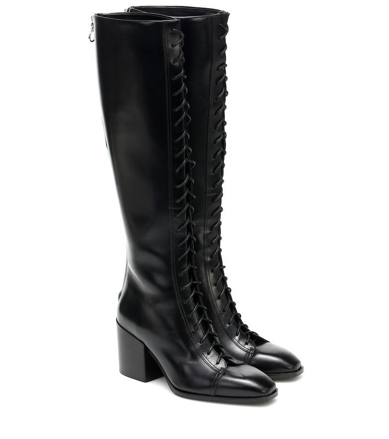 Aeydē Britta leather knee-high boots in black