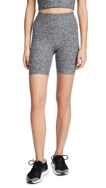 Beyond Yoga Spacedye High Waisted Shorts in black / white