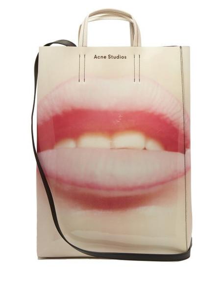Acne Studios - Baker Lip Print Tote Bag - Womens - Pink