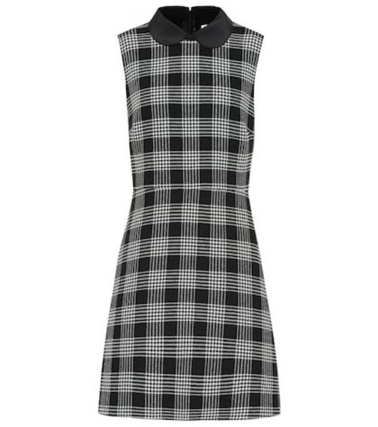 REDValentino Check minidress in grey