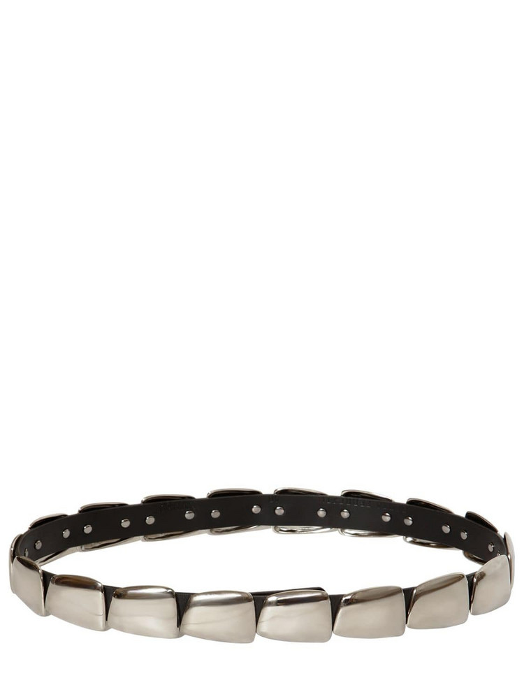 ALBERTA FERRETTI 30mm Studded Leather Belt in black / silver
