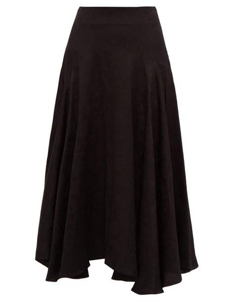 Chloé Chloé - Flou Thistle Jacquard Midi Skirt - Womens - Black