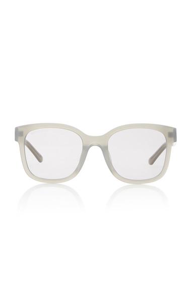 Balenciaga Acetate Square-Frame Sunglasses in grey