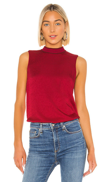Rag & Bone Letti Sleeveless Blouse in Red