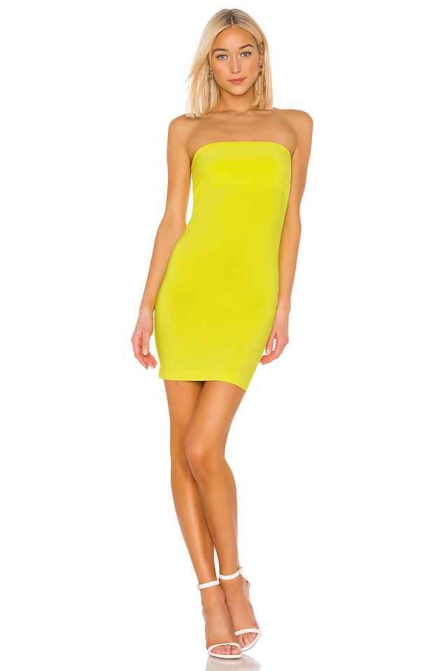 Norma Kamali Tube Mini Dress in yellow