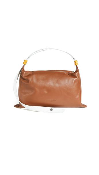 Simon Miller Puffin Shoulder Bag in tan / multi