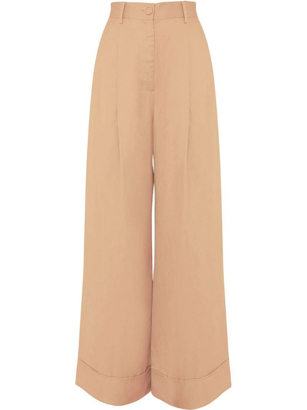 Ginger & Smart Perpetual wide-leg trousers in brown