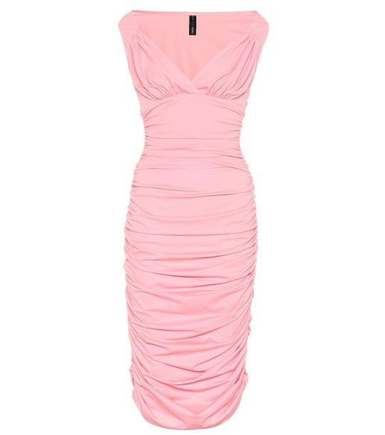 Norma Kamali Tara stretch jersey midi dress in pink