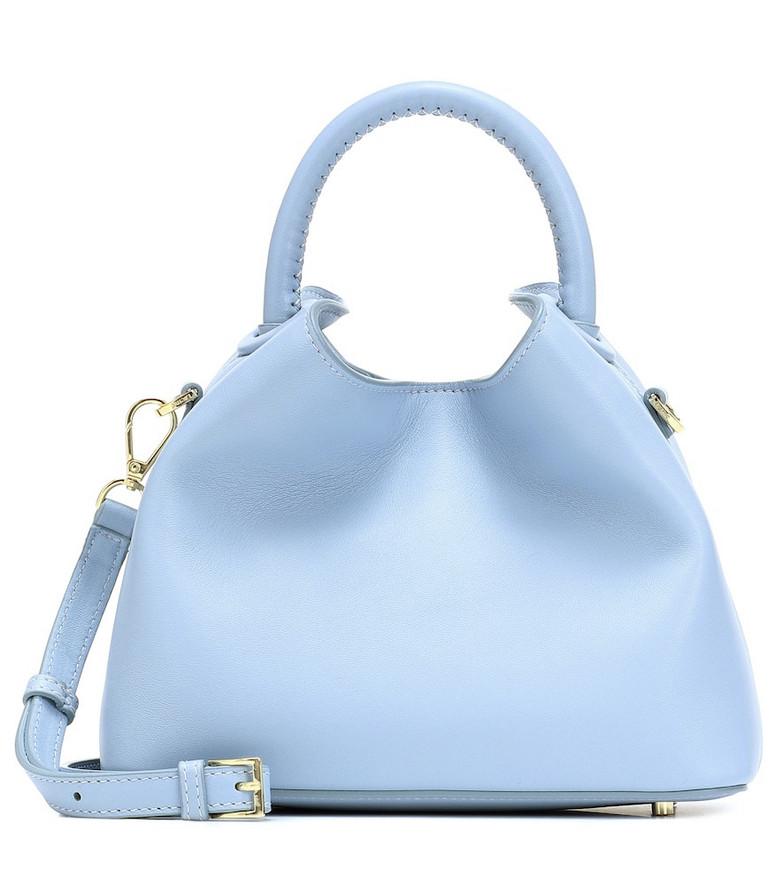 Elleme Baozi leather shoulder bag in blue