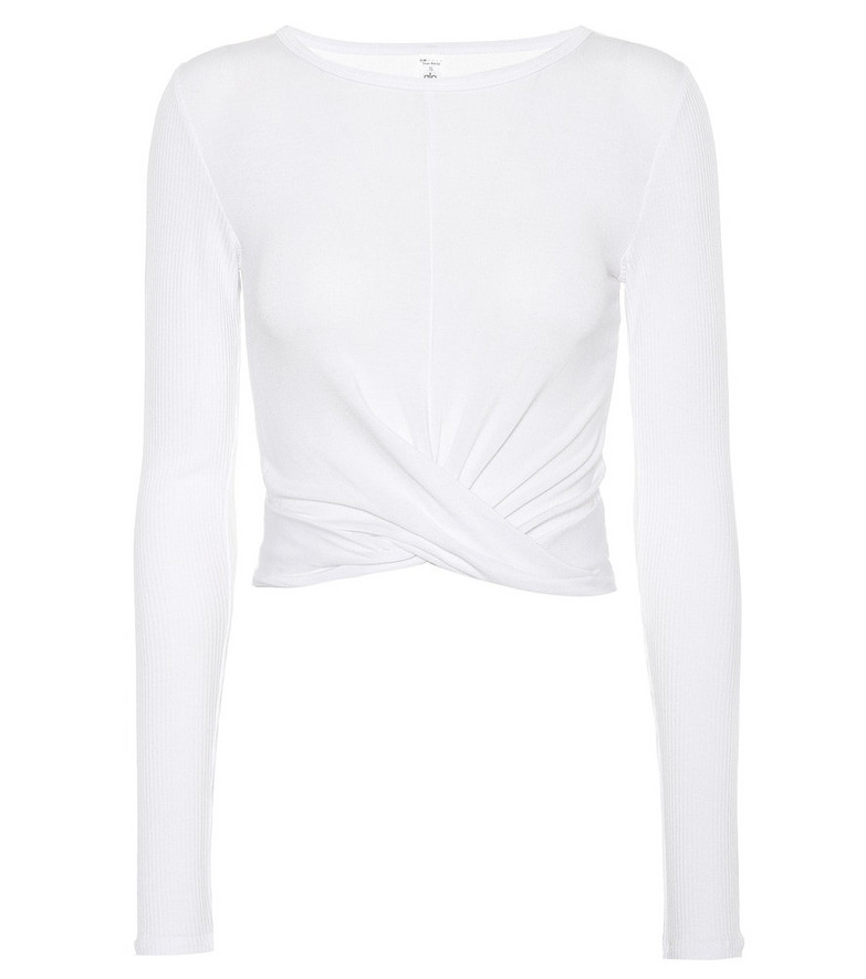 Alo Yoga Cover stretch top in white