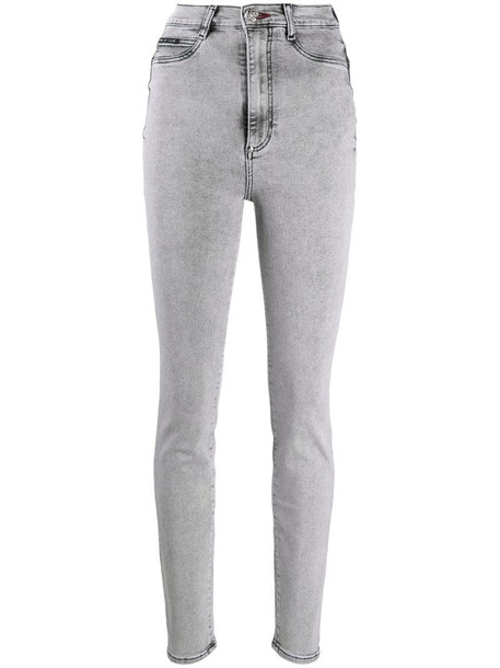 Philipp Plein high-rise skinny jeans in grey