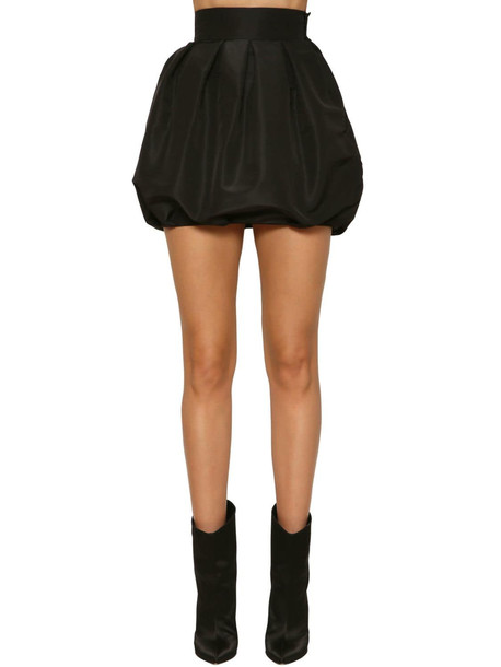 ALEXANDRE VAUTHIER Faille High Waist Balloon Mini Skirt in black