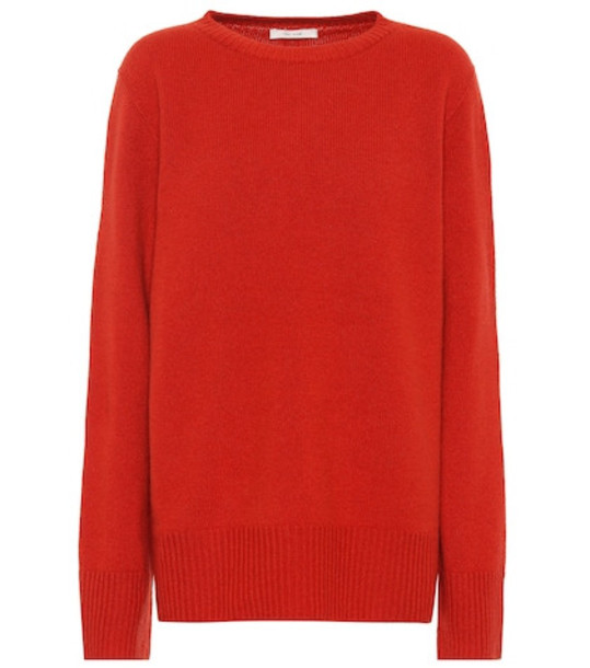 The Row Sibel wool and cashmere sweater in orange