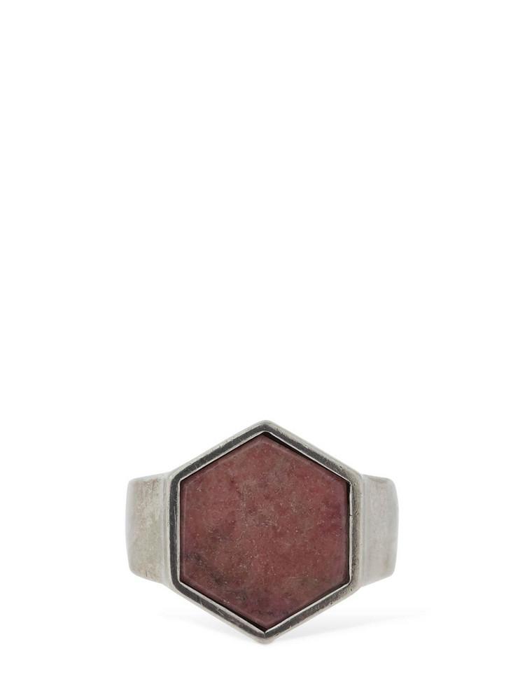 ISABEL MARANT Golden Mother Hexagonal Ring in pink