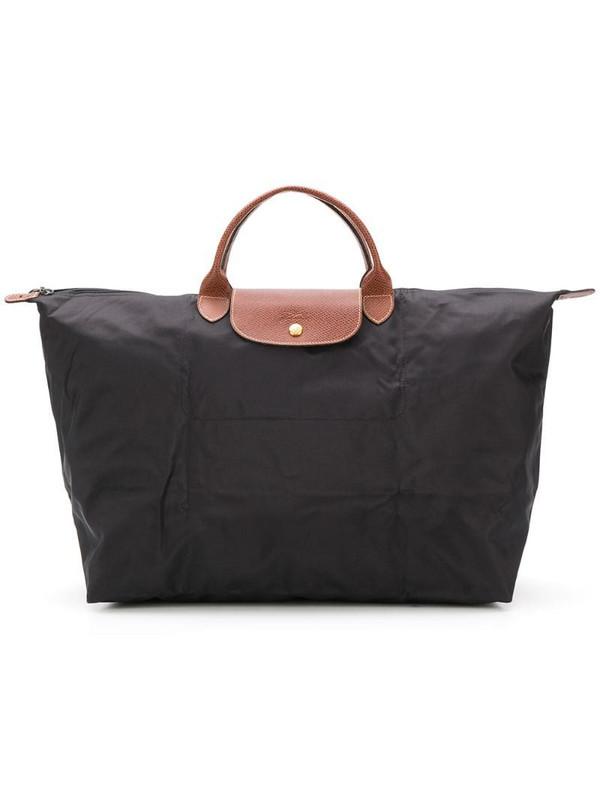 Longchamp large Le Pliage travel bag in black