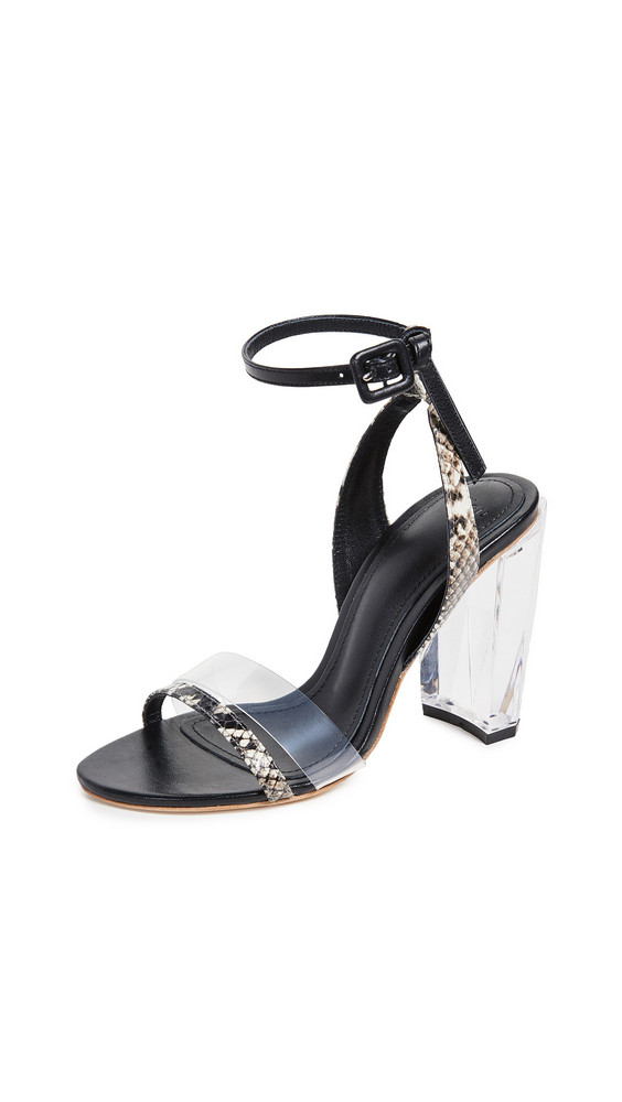 THE VOLON Slingback Sandals in black / natural