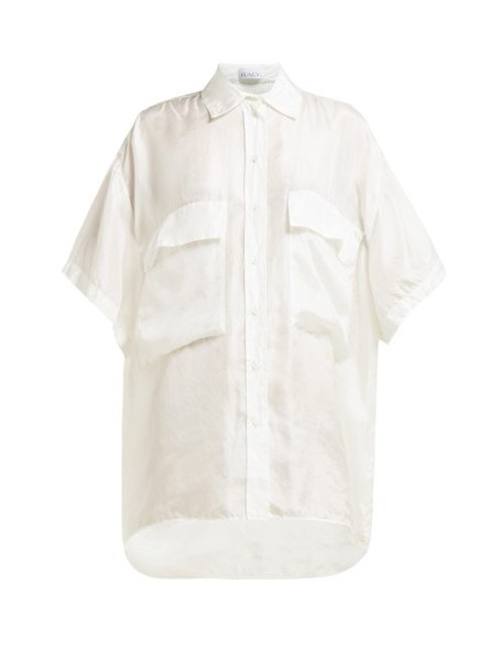 Raey - Double Layer Silk Shirt - Womens - Ivory