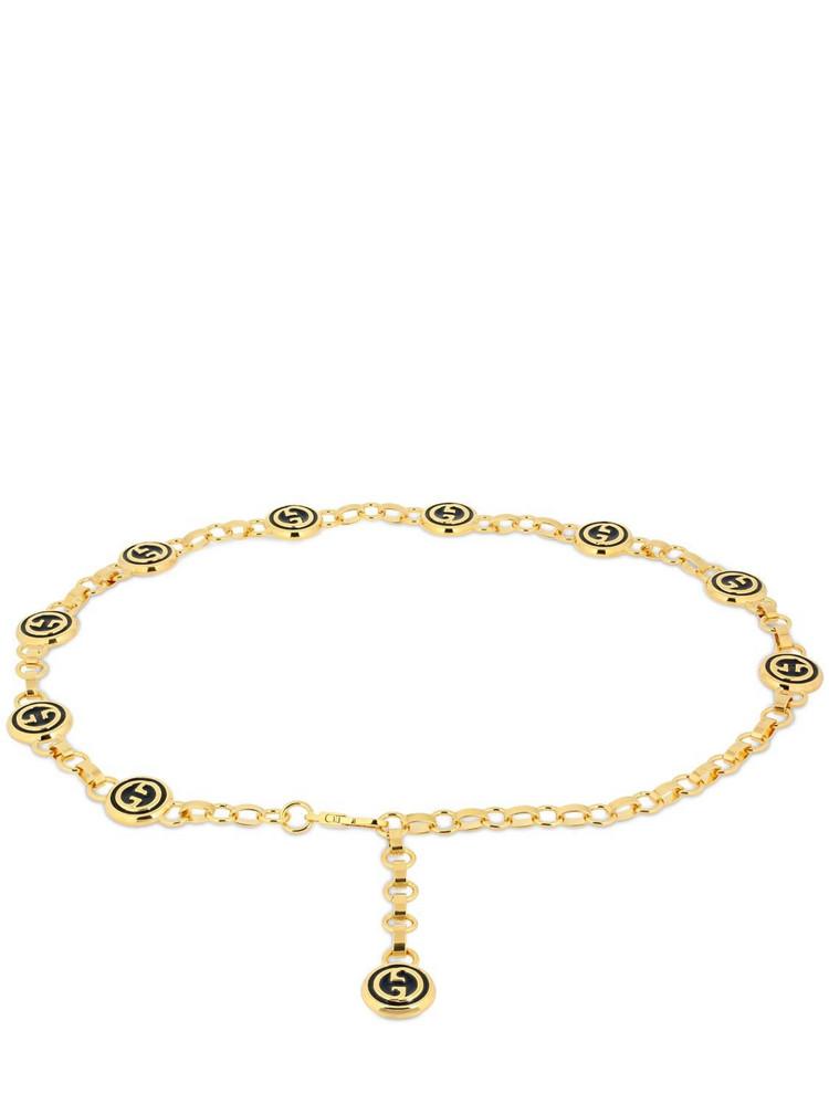 GUCCI Gg Chain Belt in gold