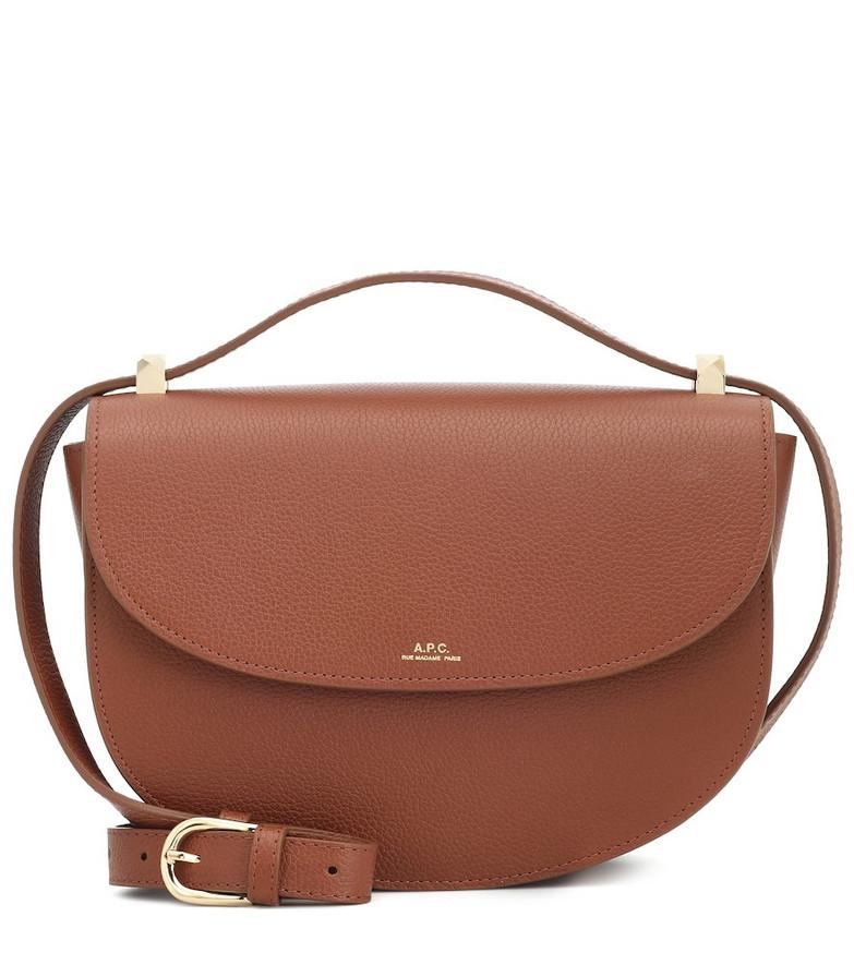 A.P.C. Genève leather shoulder bag in brown