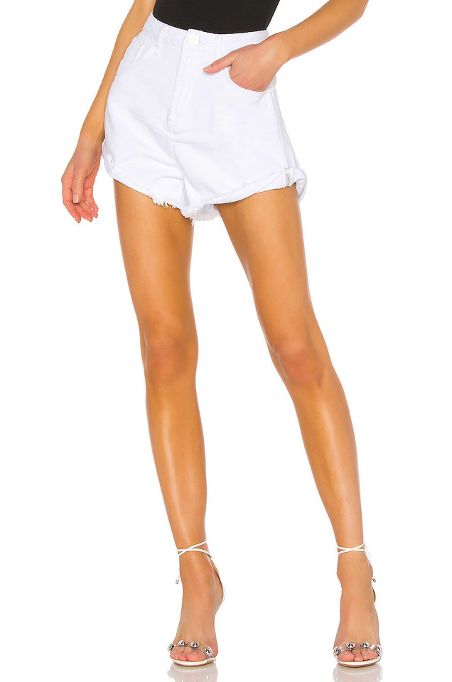 One Teaspoon Bandits High Waist Short in white