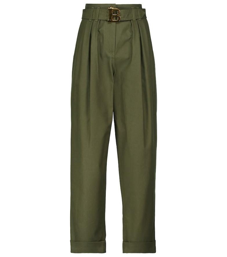 Balmain High-rise boyfriend jeans in green