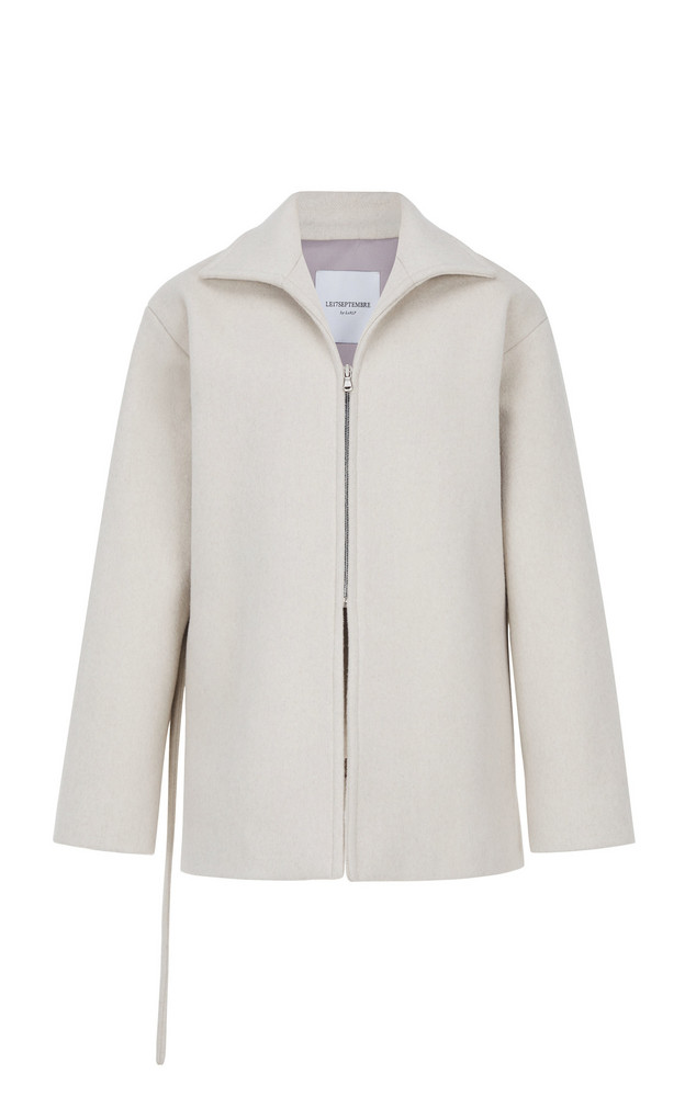Le17 Septembre Oversized Wool-Cashmere Coat in white
