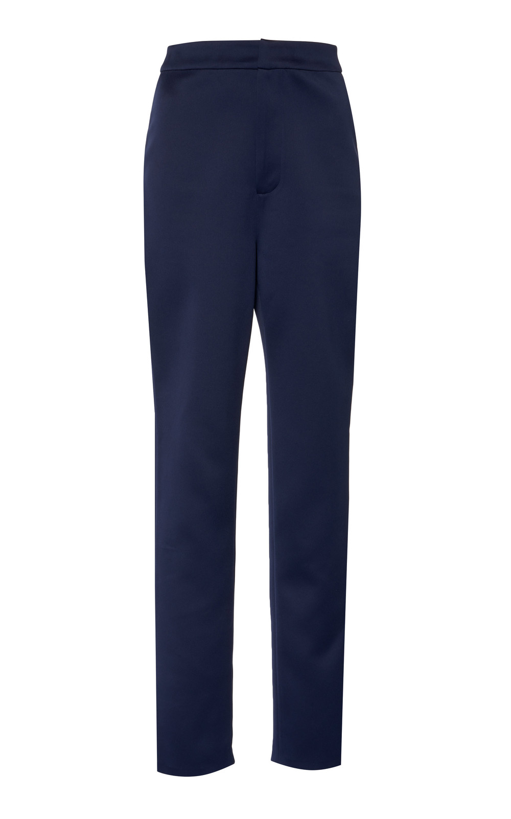 Huishan Zhang Eliza Straight Leg Satin Pants in navy