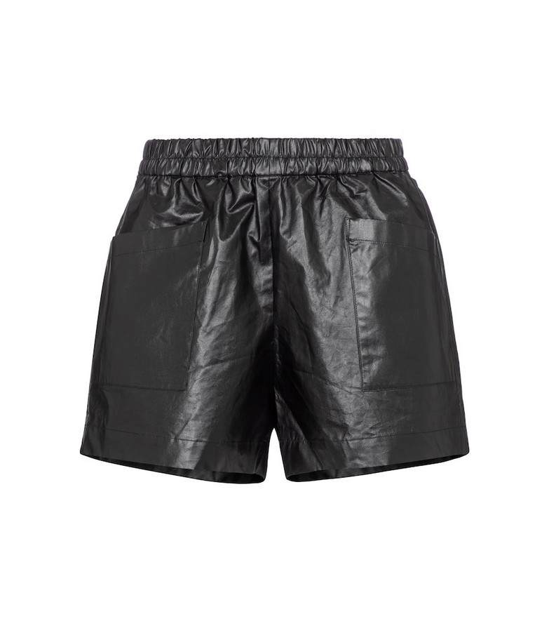 Dries Van Noten Faux-leather shorts in black
