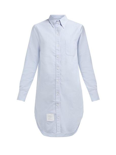 Thom Browne - Oxford Cotton Shirtdress - Womens - Light Blue