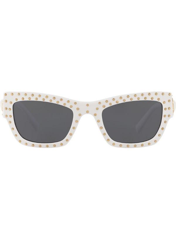 Versace Eyewear studded cat-eye sunglasses in white