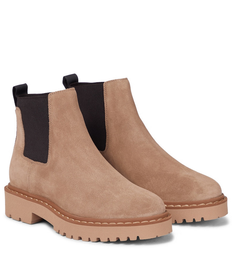 Hogan H543 suede ankle boots in brown