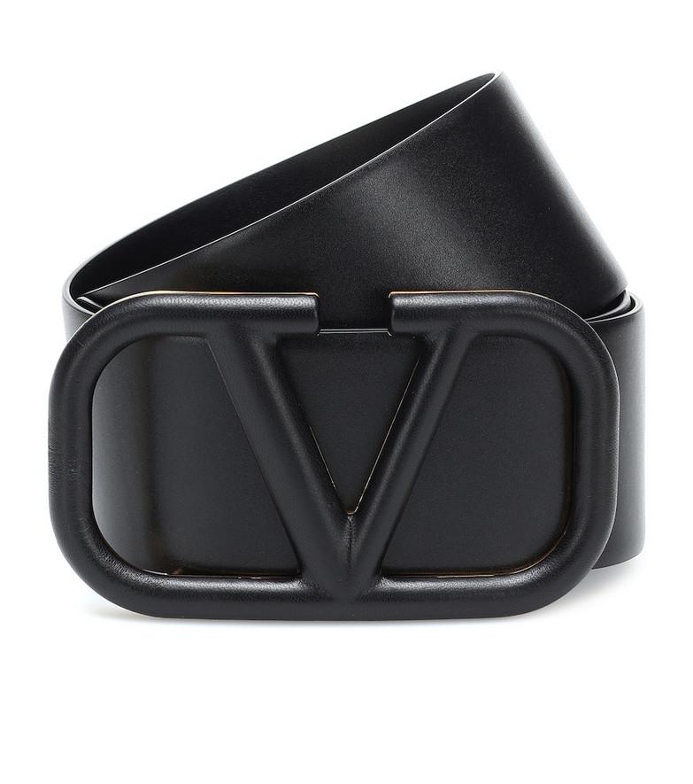 Valentino Garavani VLOGO leather belt in black