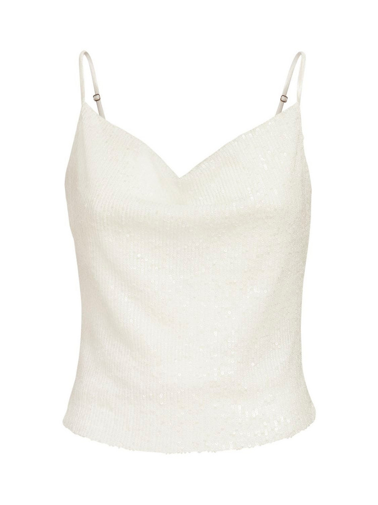 IN THE MOOD FOR LOVE Lei Satin Top in white