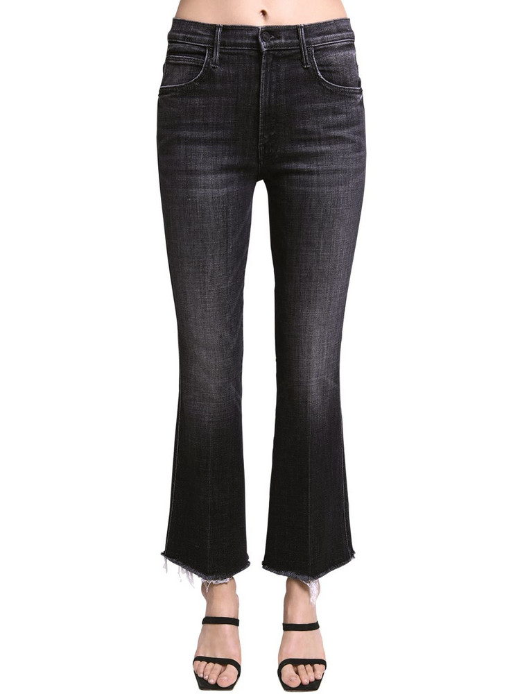 MOTHER Desperad Cotton Stretch Flared Jeans in grey