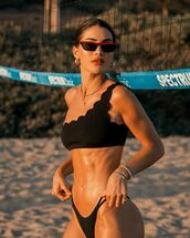 swimwear,bikini top,bikini bottoms,swimwear two piece,one shoulder