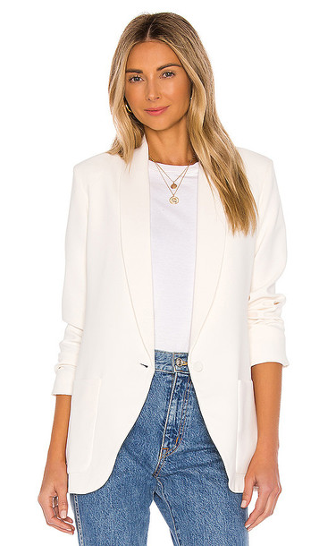 Amanda Uprichard Shawl Collar Blazer in White