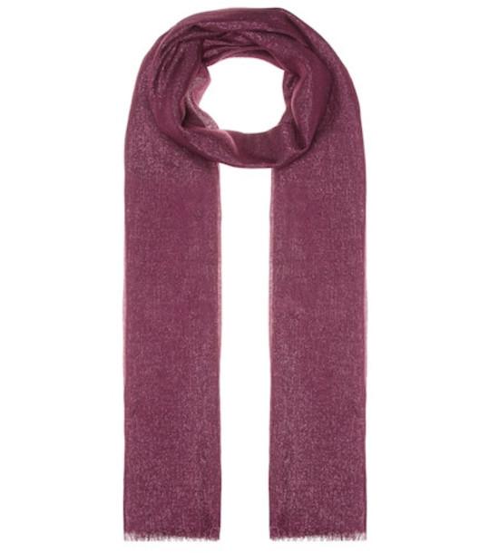 Brunello Cucinelli Cashmere and silk-blend scarf in pink