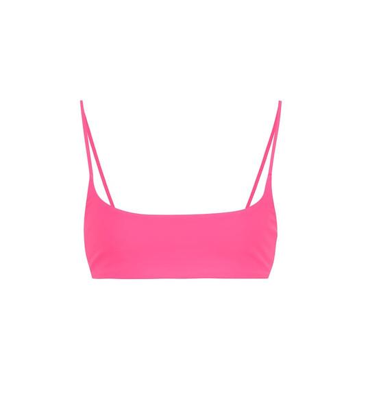Jade Swim Muse bikini top in pink