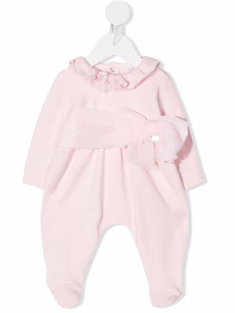 Le Bebé Enfant bow baby romper - Pink
