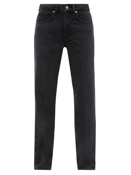 Raey - Push Straight Leg Jeans - Womens - Black