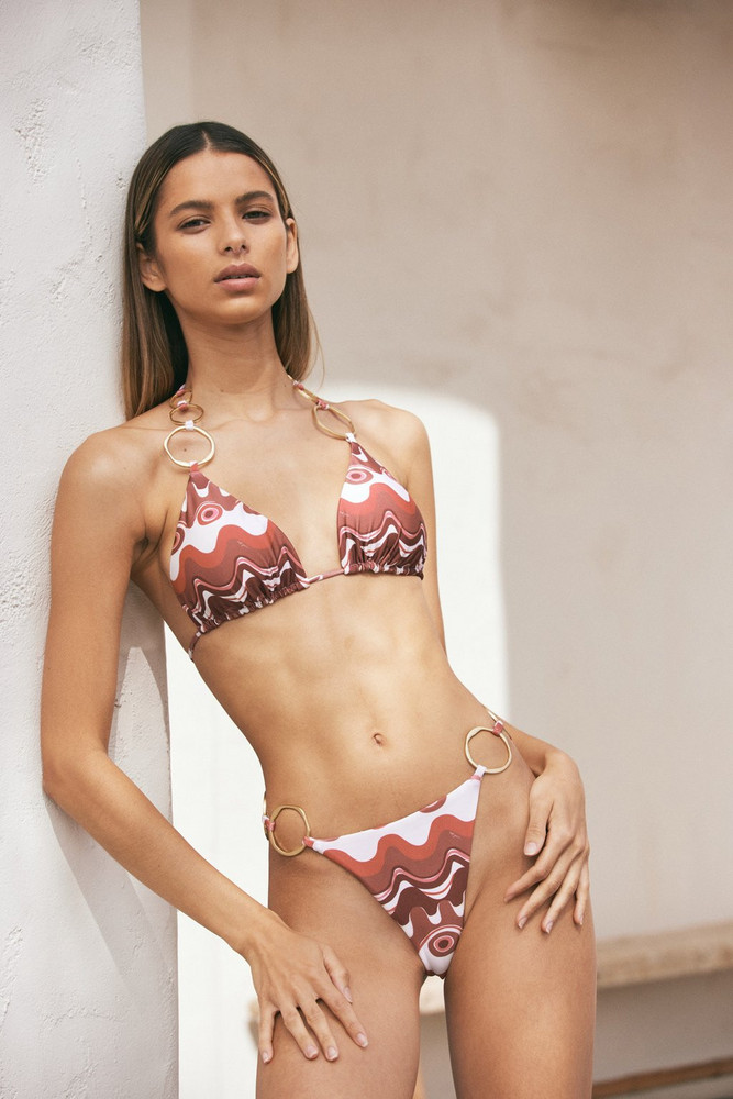 Cult Gaia Zoey Bikini Top - Wave Multi                                                                                               $149.00