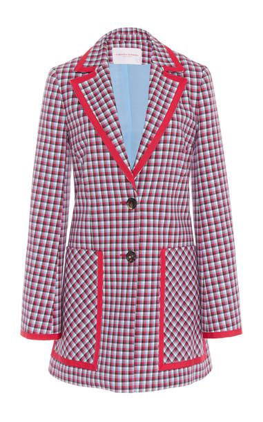 Carolina Herrera Two-Button Cotton Jacket Size: 4