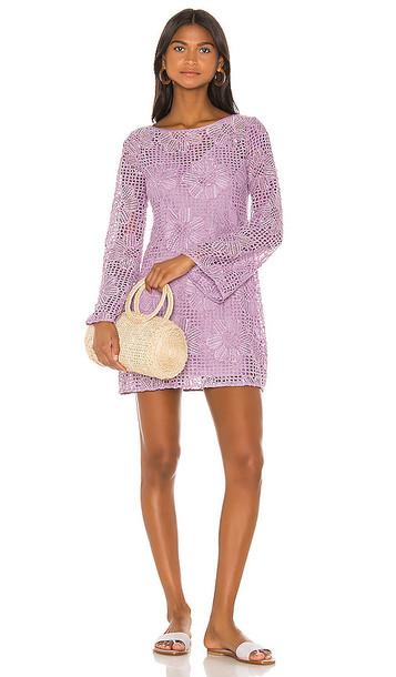 MAJORELLE Calvin Mini Dress in Lavender
