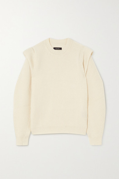 Isabel Marant - Bolton Ribbed Cashmere And Wool-blend Sweater - Ecru