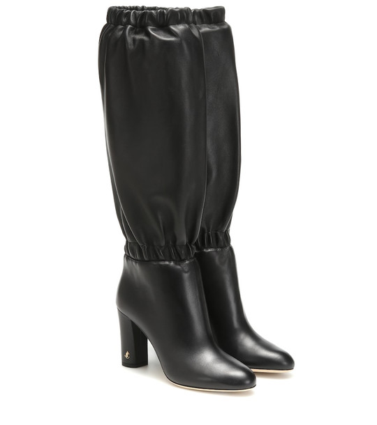 Jimmy Choo Maxyn 85 leather boots in black