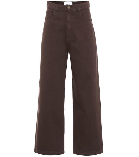 Nanushka Marfa high-rise straight jeans in brown