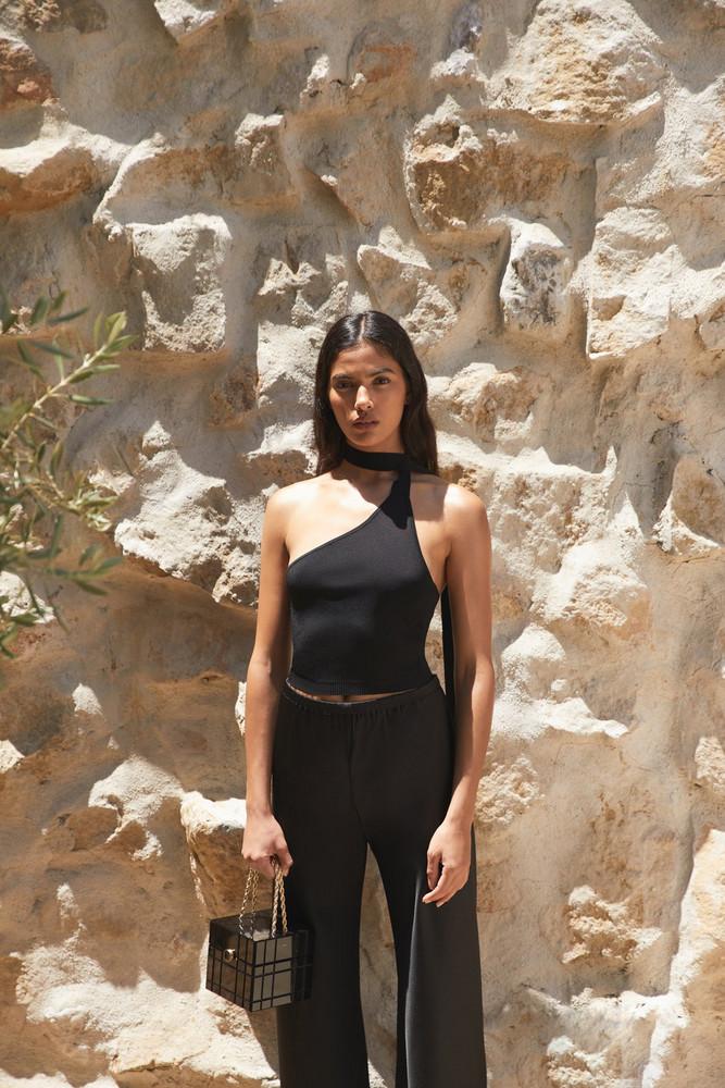 Cult Gaia Manuela Knit Top - Black (PREORDER)                                                                                               $158.00