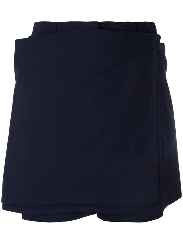 Jean Paul Gaultier Pre-Owned skirt detail shorts in blue